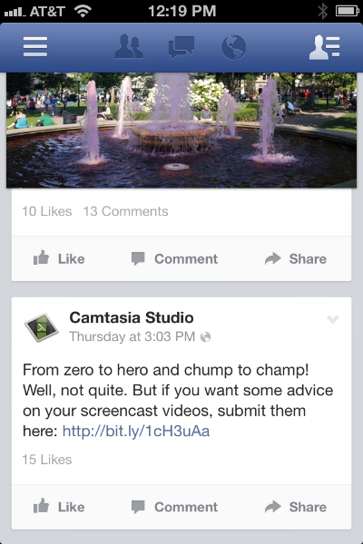 camtasia-in-facebook