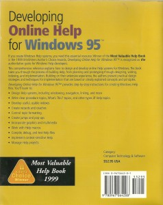 Developing Online Help for Windows 95 2nd Ed- back