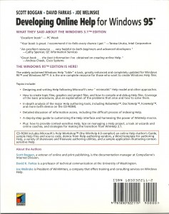 Developing Online Help for Windows 95 - back