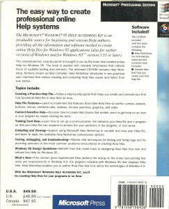 Windows 95 Help Authoring Kit - back